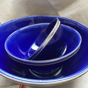 Moroccan bowls - cobalt blue