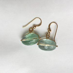 Simple tourmaline aqua earrings