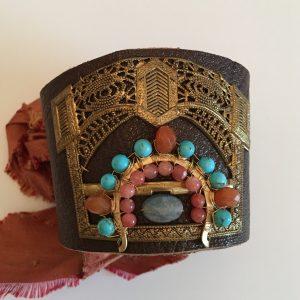 Boho Gypsy Leather Cuff
