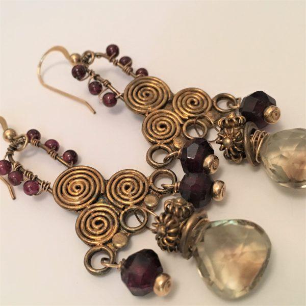 Boho oldworld earrings
