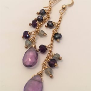 Cascade Earrings - Amethyst