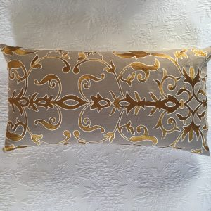 Silk embroidery on linen