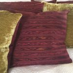 VIntage Loatian Silk Throw Cushion