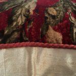 Velvet and Silk Bolster