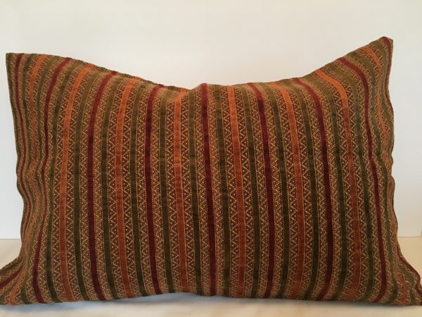 Velvet Stripe Bolster