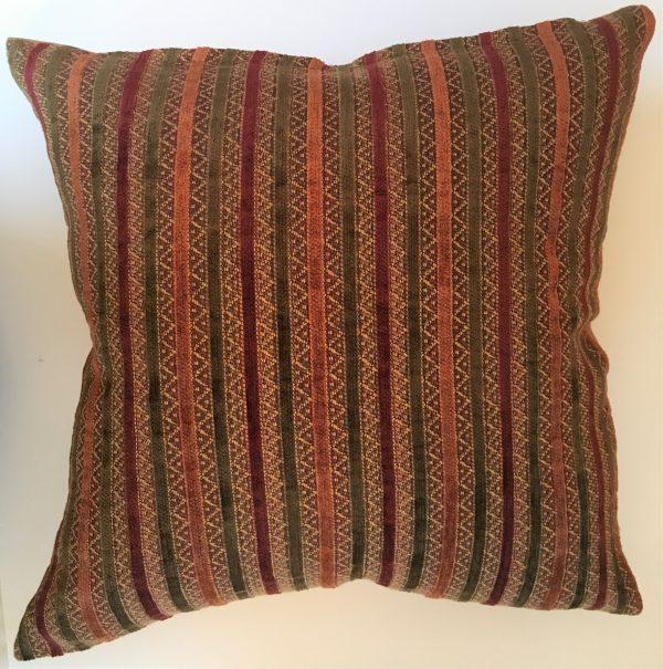 Velvet Stripe Throw Cushion