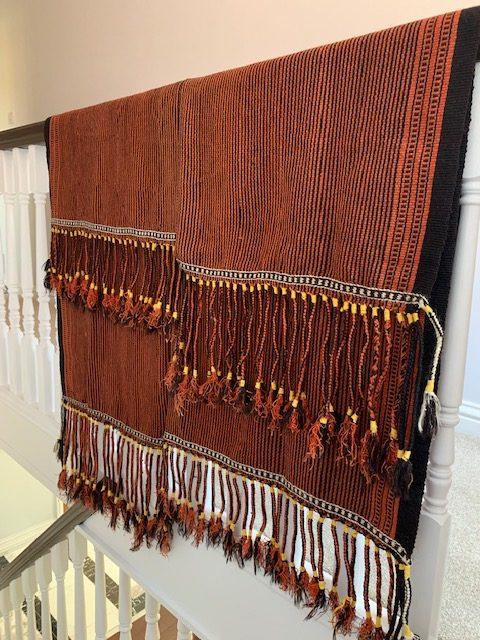 Vintage flatweave rug